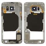 Housing Middle Part Samsung G920F Galaxy S6, (black)