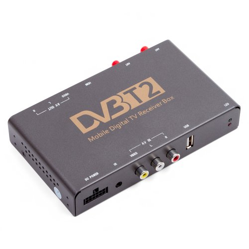 Car DVB-T2 HEVC TV Receiver with Video Input