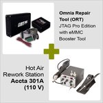 Omnia Repair Tool (ORT) JTAG Pro Edition with eMMC Booster Tool + Hot Air Rework Station Accta 301A (110 V)