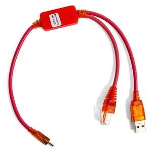 Cable UART con conectores RJ45 y USB