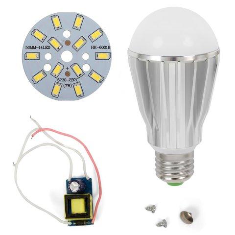 Комплект для збирання світлодіодної лампи SQ Q17 5730 7 Вт холодний білий, E27 , регулювання яскравості димірування