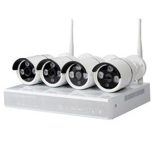 Комплект: мережевий відеореєстратор MIPCK0410 та 4 безпровідних IP-камер спостереження (720p, 1 МП)