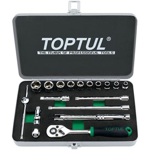 Автомобільний набір інструментів у кейсі TOPTUL GCAD1811