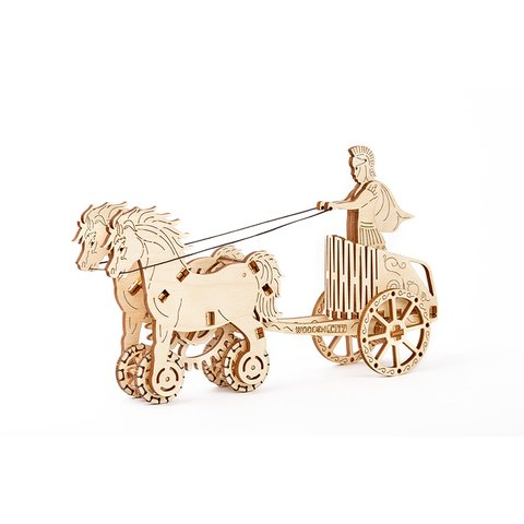 Mechanical 3D Puzzle Wooden.City Roman Chariot - /*Photo|product*/