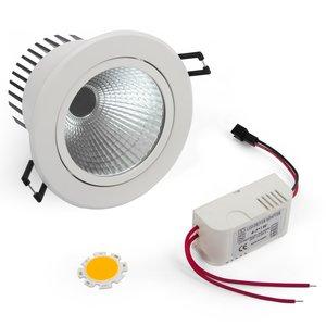 Комплект для сборки потолочного светильника COB 5 Вт (теплый белый)