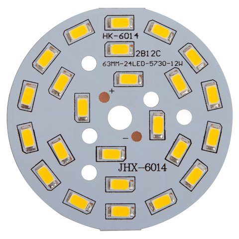 PCB with LEDs 12 W warm white, 1440 lm, 63 mm