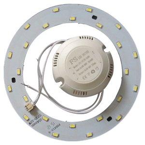 Juego de piezas para armar lámpara LED de 12 W (luz blanca natural, redondo, 4000-4500 K)